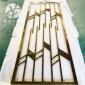 裕晟不锈钢屏风隔断钛金现代轻奢简约风金属隔断酒店工程安装来图定制